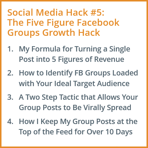 Facebook Growth Marketing Hack