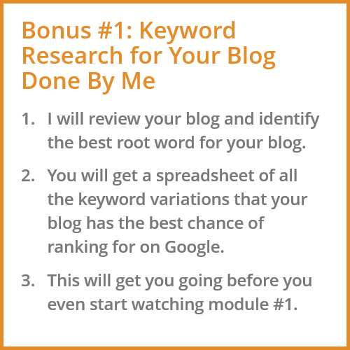 Keyword Research Bonus