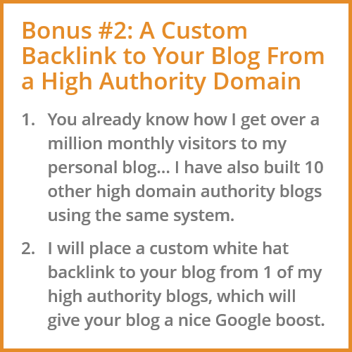 Quality Backlink Bonus