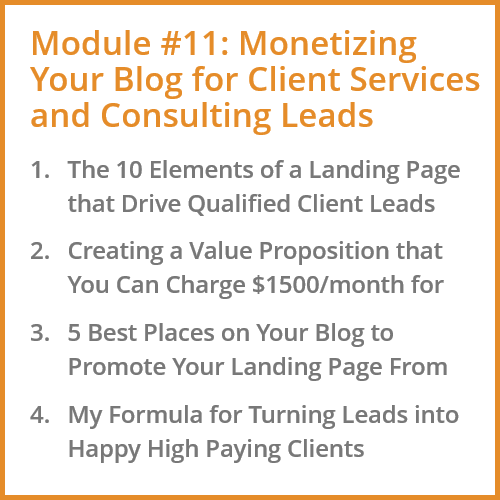 Monetizing Your Blog for Client Services