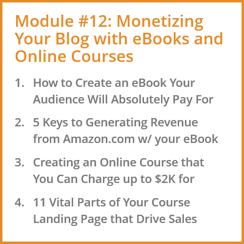 Monetizing Blogs for Online Course